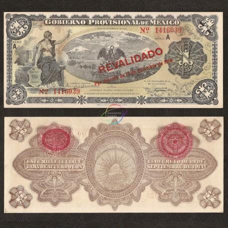 Mexico 1 Peso, 1914, P-S701b, UNC