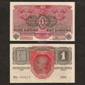 Austria 1 Krone, 1916, P-49, UNC