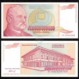 Yugoslavia 500 Billion Dinara, ZA Replacement, 1993, P-137, UNC