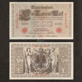 Germany 1,000 Mark, 1910, P-44b, AU