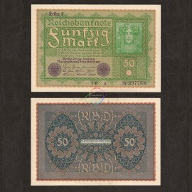 Germany 50 Mark, 1919, P-66, AU