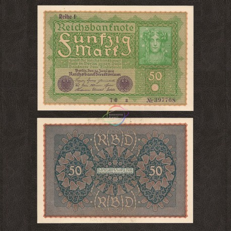Germany 50 Mark, 1919, P-66, UNC