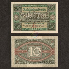 Germany 10 Mark, 1920, P-67, AU