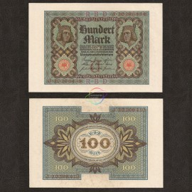 Germany 100 Mark, 1920, P-69b, AU