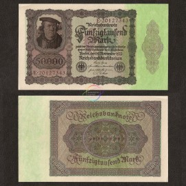 Germany 50,000 Mark, 1922, P-80, UNC