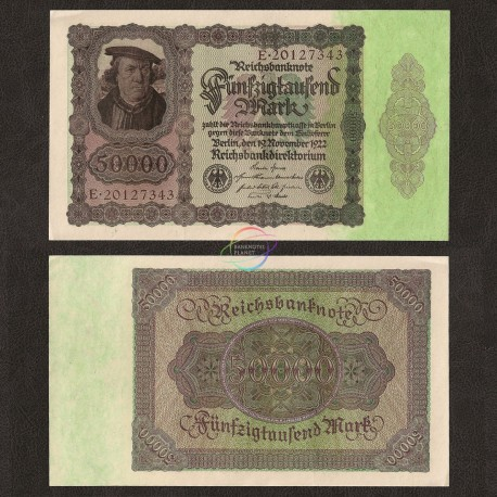 Germany 50,000 Mark, 1922, P-80, UNC