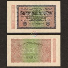 Germany 20,000 Mark, 1923, P-85, UNC