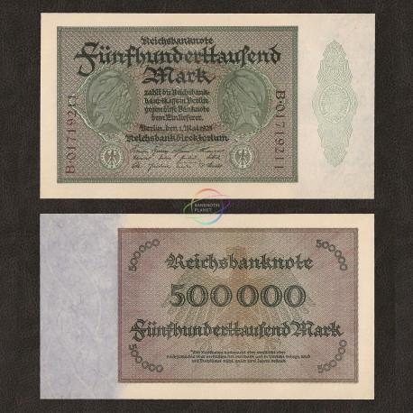 Germany 500,000 Mark, 1923, P-88b, UNC