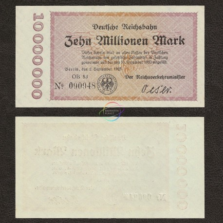 Germany 10 Million Mark, 1923, P-S1014, UNC