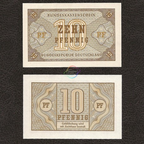 Germany Federal Rep. 10 Pfennig, 1967, P-26, UNC