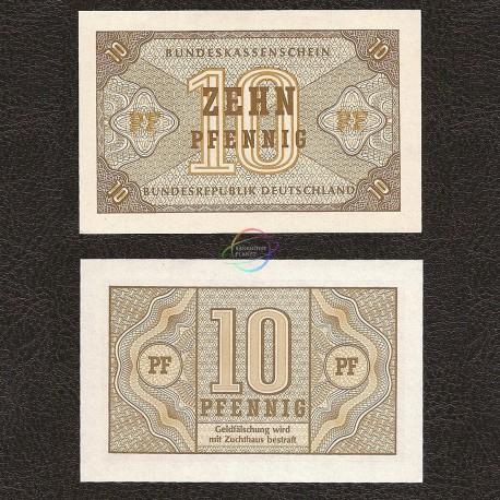 Germany Federal Rep. 10 Pfennig, 1967, P-26, UNC