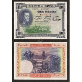 Spain 100 Pesetas, 1925, P-69c, AU