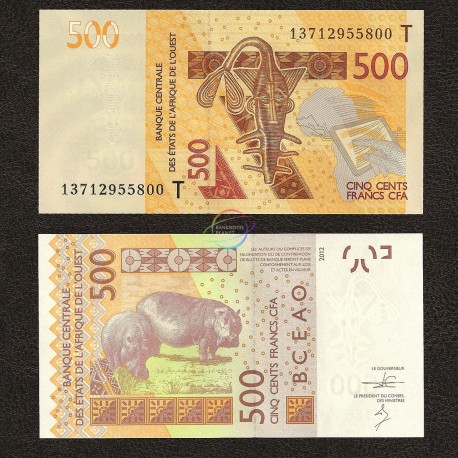 West African States, Togo 500 Francs, 2012, P-819T, UNC