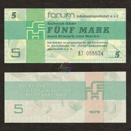 Germany Democratic Rep. 5 Mark, 1979, P-FX3, UNC