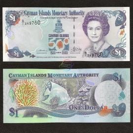 Cayman Islands 1 Dollar, QE II, 2003, P-30, UNC