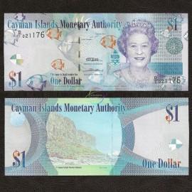Cayman Islands 1 Dollar, QE II, 2010, P-38, UNC