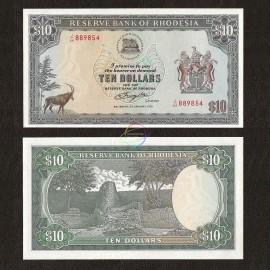 Rhodesia 10 Dollar, 1979, P-41a, UNC