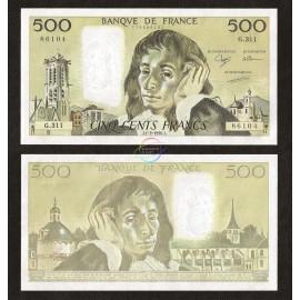 France 500 Francs, 1990, P-156g, UNC