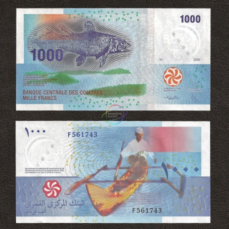 Comoros 1000 Francs, 2005, P-16, UNC