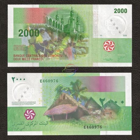 Comoros 2000 Francs, 2005, P-17, UNC