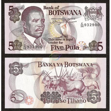 Botswana 5 Pula, 1992, P-11, UNC