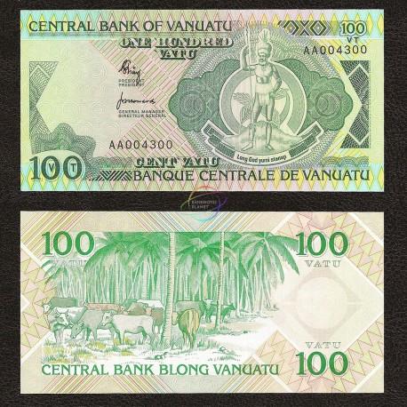 Vanuatu 100 Vatu, 1982, P-1, UNC