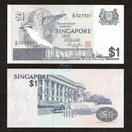 Singapore 1 Dollar, 1976, P-9, UNC