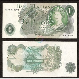 Great Britain 1 Pound, QE II, 1970-77, P-374g, UNC