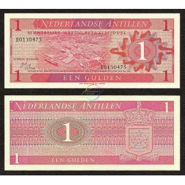 Netherlands Antilles 1 Gulden, 1970, P-20, UNC