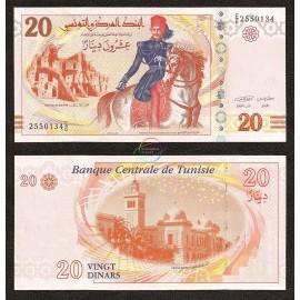 Tunisia 20 Dinars, 2011, P-93, UNC