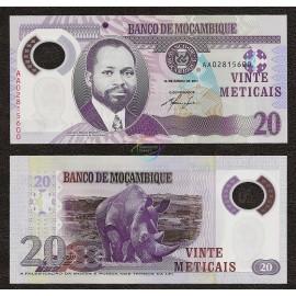 Mozambique 20 Meticais, 2011, P-149, Polymer, UNC