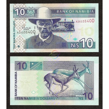 Namibia 10 Dollar, 2001, P-4b, UNC