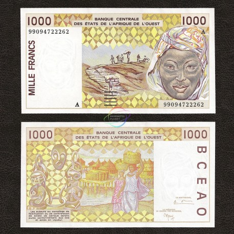 West African States, Ivory Coast 1000 Francs, 1999, P-111Ai, UNC