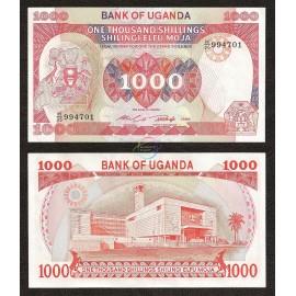 Uganda 1000 Shillings, 1986, P-26, UNC