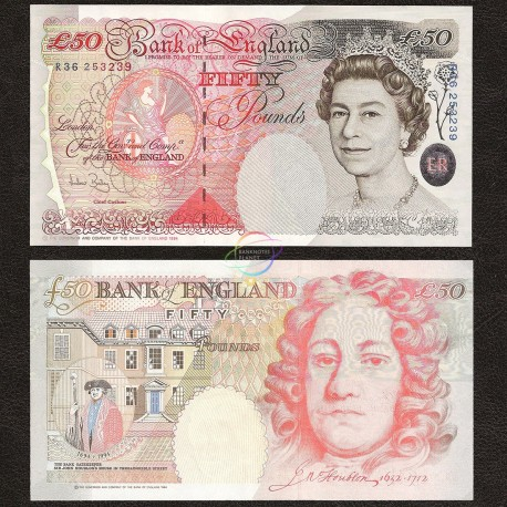 Great Britain 50 Pounds, QE II, 2006-12, P-388c, UNC