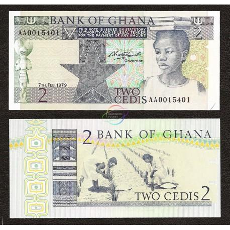 Ghana 2 Cedis, 1979, P-18a, UNC