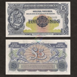 Great Britain 5 Pounds, 1958, P-M23, UNC