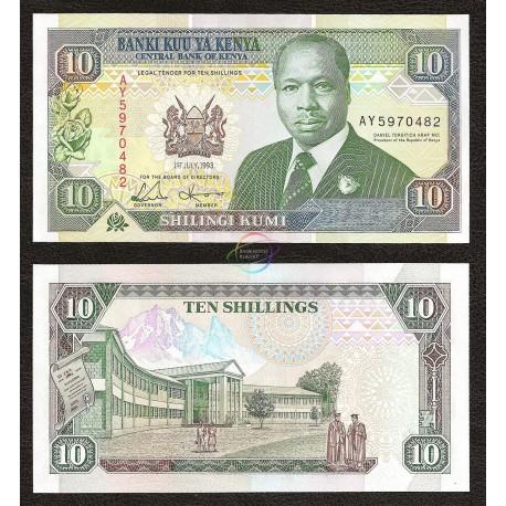 Kenya 10 Shillings, 1993, P-24, UNC