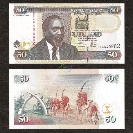 Kenya 50 Shillings, 2004, P-41b, UNC