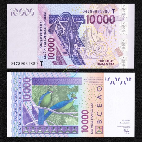 West African States, Togo 10,000 Francs, 2005, P-818T, UNC